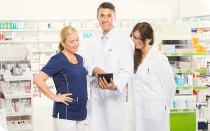 pharmacists doing an inventory