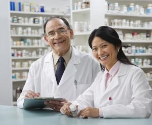 pharmacists smiling